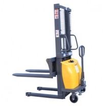 High quality semi-electric walking pallet stacker  for sale