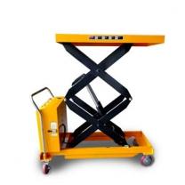 Mobile double electric scissor lift table