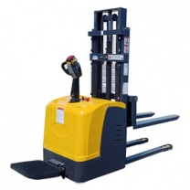 stand drive full electric lift stacker truck automatic powered lift stacker