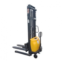 1 ton 1.6 M Semi battery operated pallet stacker automatic lifting stacker