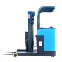 The fork can be tilted forward and the large forward electric stacker