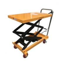 150kg Small manual adjustable height cart scissor lift
