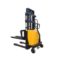 1 ton 2M Battery loading and unloading stacker semi-automatic forklift