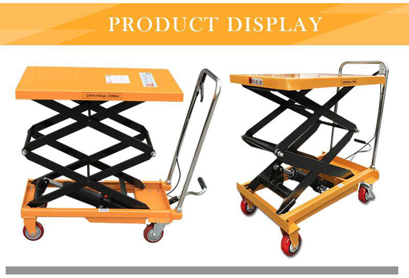 pallet lift table with rollers 3