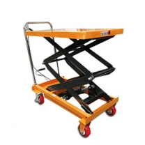300kg Small manual hydraulic lifting platform car mobile work platform
