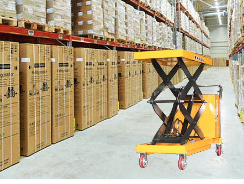 Pallet Lift Table With Rollers 8