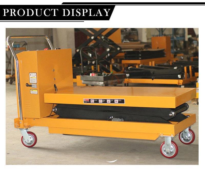 Battery Operated Scissor Lift Table 2
