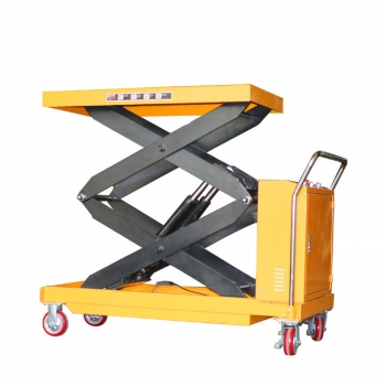 500kg Battery operated scissor lift table hydraulic lift small electric platform