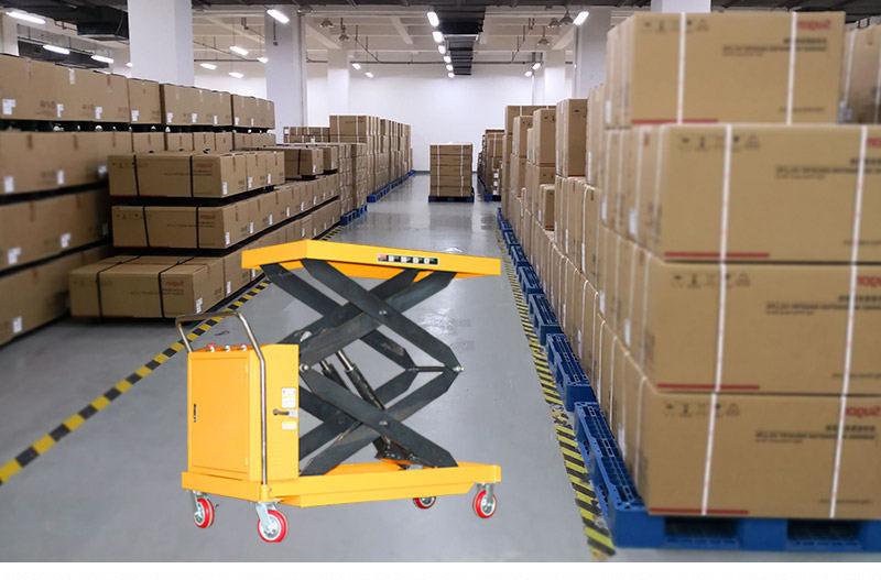 hydraulic scissor lift cart 8
