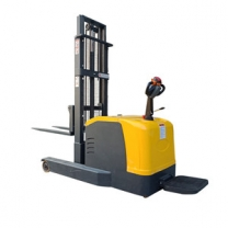 Balanced full electric stacker 1 ton 1.6M station driving battery type forklift