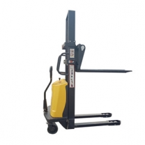 1Ton Semi electric stacker automatic lifting stacker loading and unloading truck