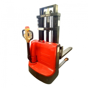 Full electric stacker 1 ton 1.6M semi-automatic lift forklift hydraulic stacking