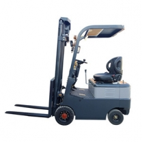 Forklift truck manufacturers provide four-wheel electric powered forklift