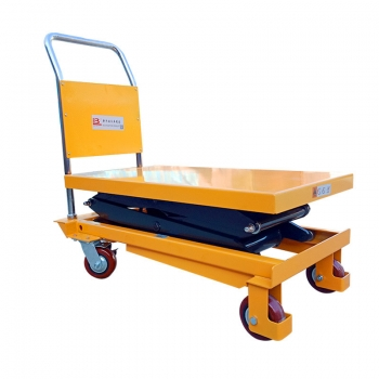 Spot new manual hydraulic mobile scissor lift with baffle manual lift table
