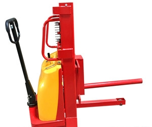 Cylindrical fork roll lift for semi-electric roll lifting equipment
