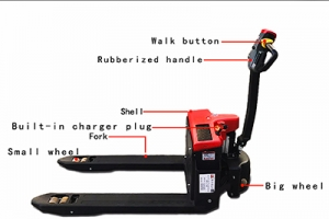 The correct way to operate the electric pallet truck