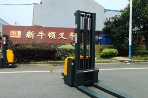 How about a small electric forklift with outriggers?